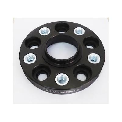 PCD keitimo adapteris iš 5x110(auto) į 5x114.3(ratlankis) | 20mm | 65.1/60.1 | Black serija