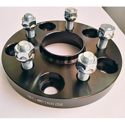 PCD keitimo adapteris iš 5x127(auto) į 5x114.3(ratlankis) | 20mm | 71.5/60.1 | Black serija