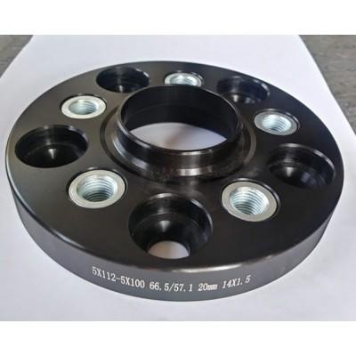 PCD nomaiņas adapteri 5x112(auto)-5x100(disk) | 20mm  | 66.5/57.1 | Melnā sērija