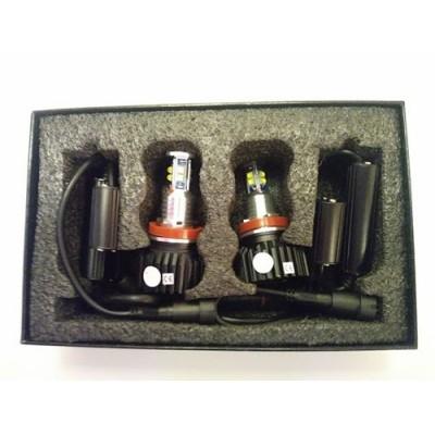 LED markeriai H8 canbus su aušinimu | 80W x 2vnt