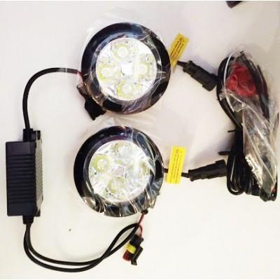 LED dienos žibintai universalūs | 90mm | 4W | 12V