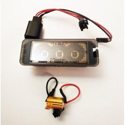 LED numerio apšvietimo lempos, tamsintos | VW  | 3xCree high power Led | 2vnt
