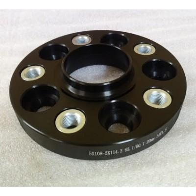 PCD keitimo adapteris  5x108-5x114.3 | 20mm | 65.1/60.1 | Black serija