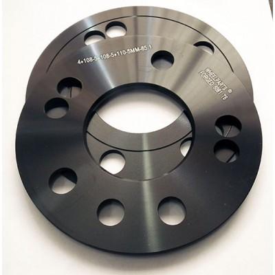 Ratlankio praplatinimas  4x108/5x108/110 | 5MM | 65.1 | Black serija, be žiedo