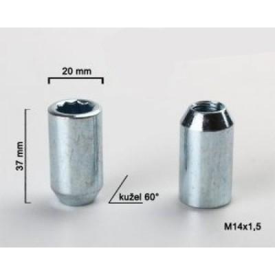 Ratų veržlė siaura 14x1.5 kon | 20mm | žvaigždinė galvutė