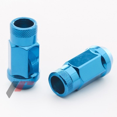 Tiuninginės veržlės BlUE 12x1.5 45mm | 23mm | H19 | kompl